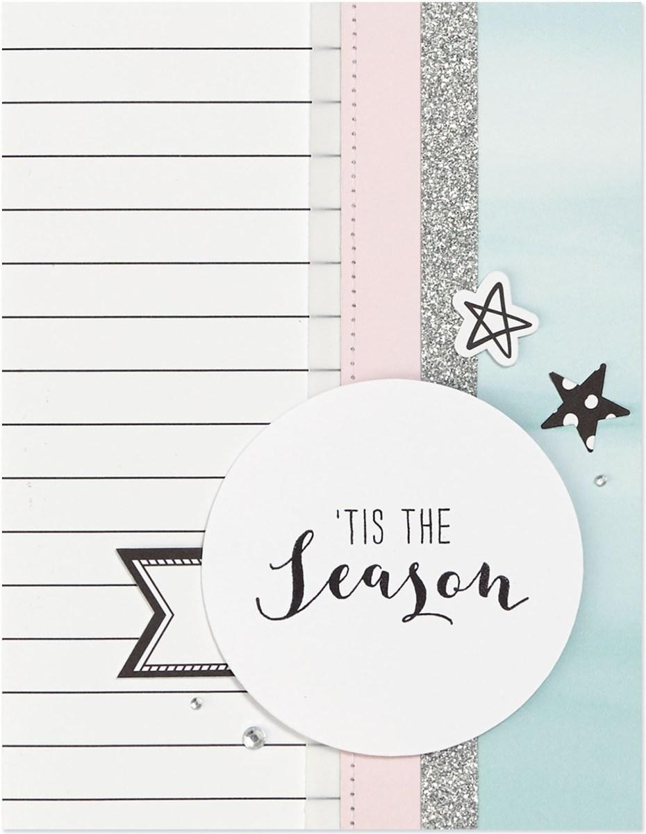 Pastel Christmas Trend #ctmh #closetomyheart #pastel #Christmas #trend #bashful #silver #glitter #pink #lightblue #juniper #December #season #card #cardmaking