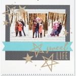Through the Year #ctmh #closetomyheart #throughtheyear #calendar #kit #scrapbooking #scrapbook #memorykeeping #keepsake #gift #diy #family #Chrismas #present #photos #gold #glitter #diecut #gems #stars