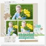 Through the Year #ctmh #closetomyheart #throughtheyear #calendar #kit #scrapbooking #scrapbook #memorykeeping #keepsake #gift #diy #family #Chrismas #present #photos #gold #glitter #diecut #gems #snapshot #tulips #shamrock #clover