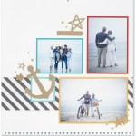 Through the Year #ctmh #closetomyheart #throughtheyear #calendar #kit #scrapbooking #scrapbook #memorykeeping #keepsake #gift #diy #family #Chrismas #present #photos #gold #glitter #diecut #gems #stars #anchor #beach