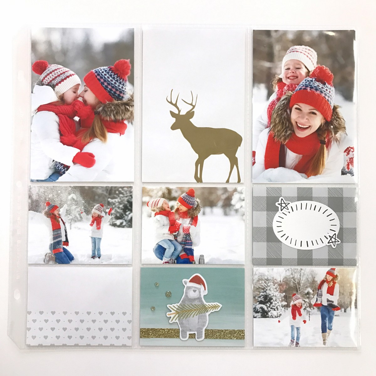 Holiday Memory Keeping #ctmh #closetomyheart #memory #keeping #pocket #plus #scrapbooking #scrapping #plan #ahead #holiday #christmas #december #story #snow #reindeer #gold #foil