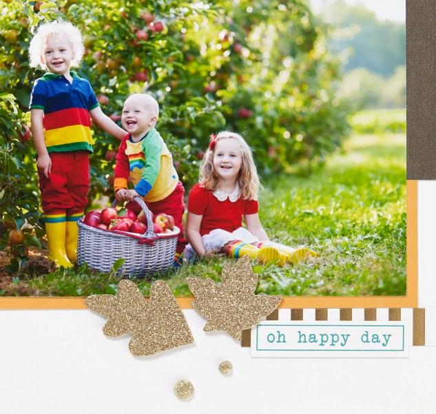 Through the Year Calendar Kit #ctmh #closetomyheart #diy #photocalendar #calendar #kit #season #spring #fall #autumn #gold #glitter #diecut #die-cut #happy #day #leaf #leafs #leaves #gems
