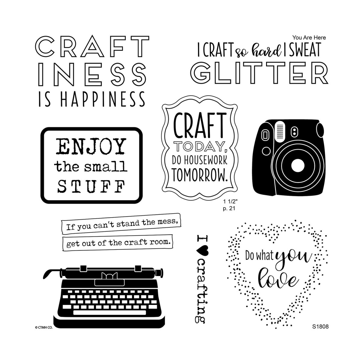 Fab Four Sign-up Special #ctmh #closetomyheart #camera #memory #keeping #typewriter #crafting #love #craftiness #happiness #sweat #glitter #craft #diy #April #sotm #fabfour #free