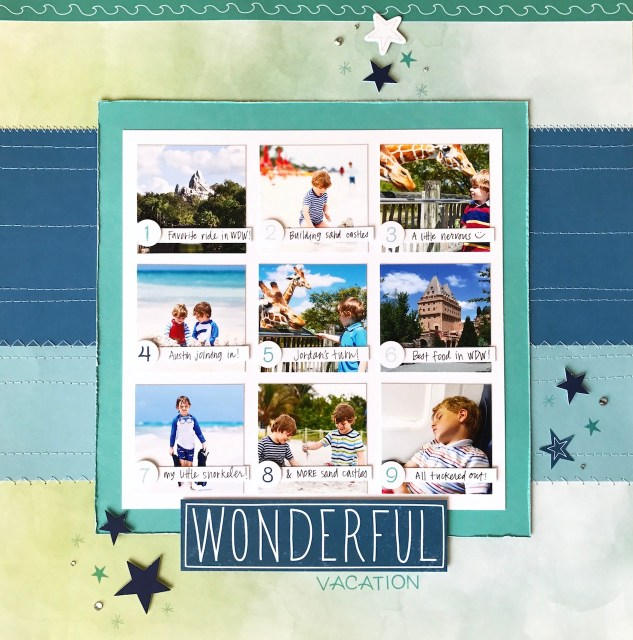 Secrets of a Title Page #ctmh #closetomyheart #scrapbooking #scrapping #titlepage #title #page #secret #howto #diy #ctmhchelseagardens #ctmhstargazer #vacation #layout #photos #tableofcontents