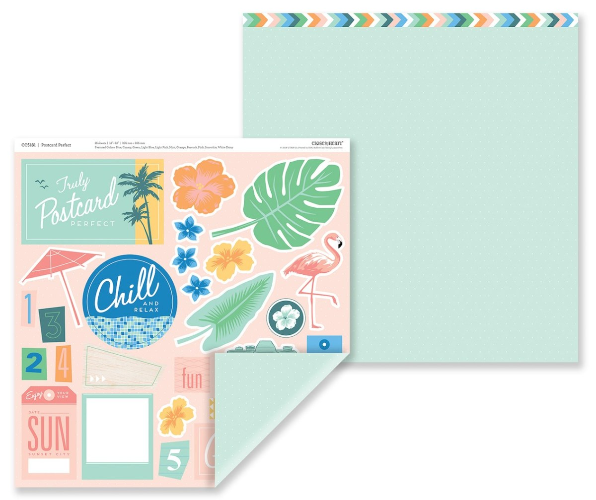 Postcard Perfect Pocket Scrapbooking #ctmh #closetomyheart #ctmhpostcardperfect #postcardperfect #giveaway #free #cutabove #layout #pocket #scrapbooking #scrapping #pocketscrapbooking #getaway #holiday #vacation #scenic #beach #win #free