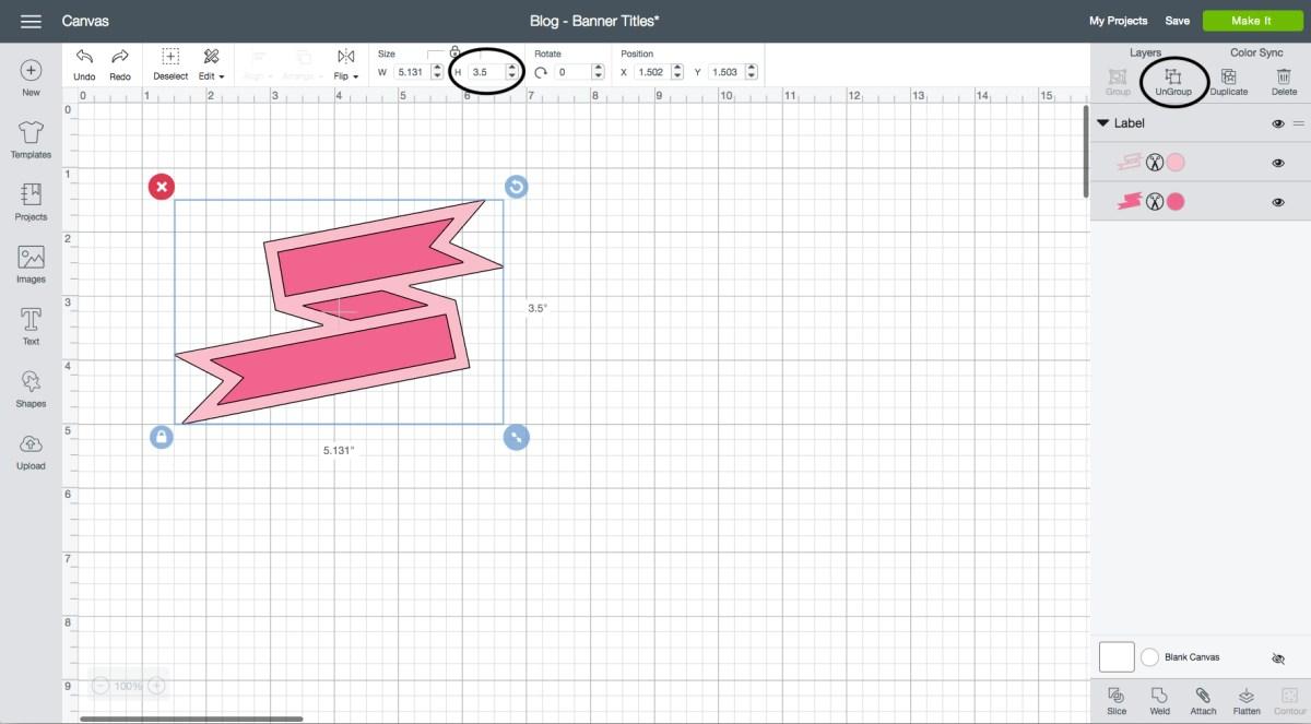 Custom Banners in Cricut Design Space™ #ctmh #closetomyheart #ctmhpostcardperfect #postcardperfect #nationalscrapbookingmonth #nsm #ctmhnsm #scrapbooking #scrapbook #cricut #cricutdesignspace #designspace #ctmhdesignspace #ctmhcricut #slicetool #slice #banners #banner #sunshine #summer #vacation #youarehere #ctmhyouarehere #artistry #ctmhartistry