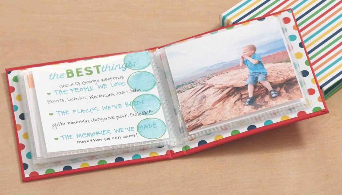 Storytelling with Story Starter #ctmh #closetomyheart #ctmhstorybystacy #ctmhstorystarter #storystarter #stacyjulian #storytelling #scrapbooking #scrapping #album #photoalbum #stories #photos #workbook #workshop #candyapple #ctmhcandyapple #dots #stripes #ctmhmyacrylix #myacrylix #colorfultexture #quotablewords #minialbum