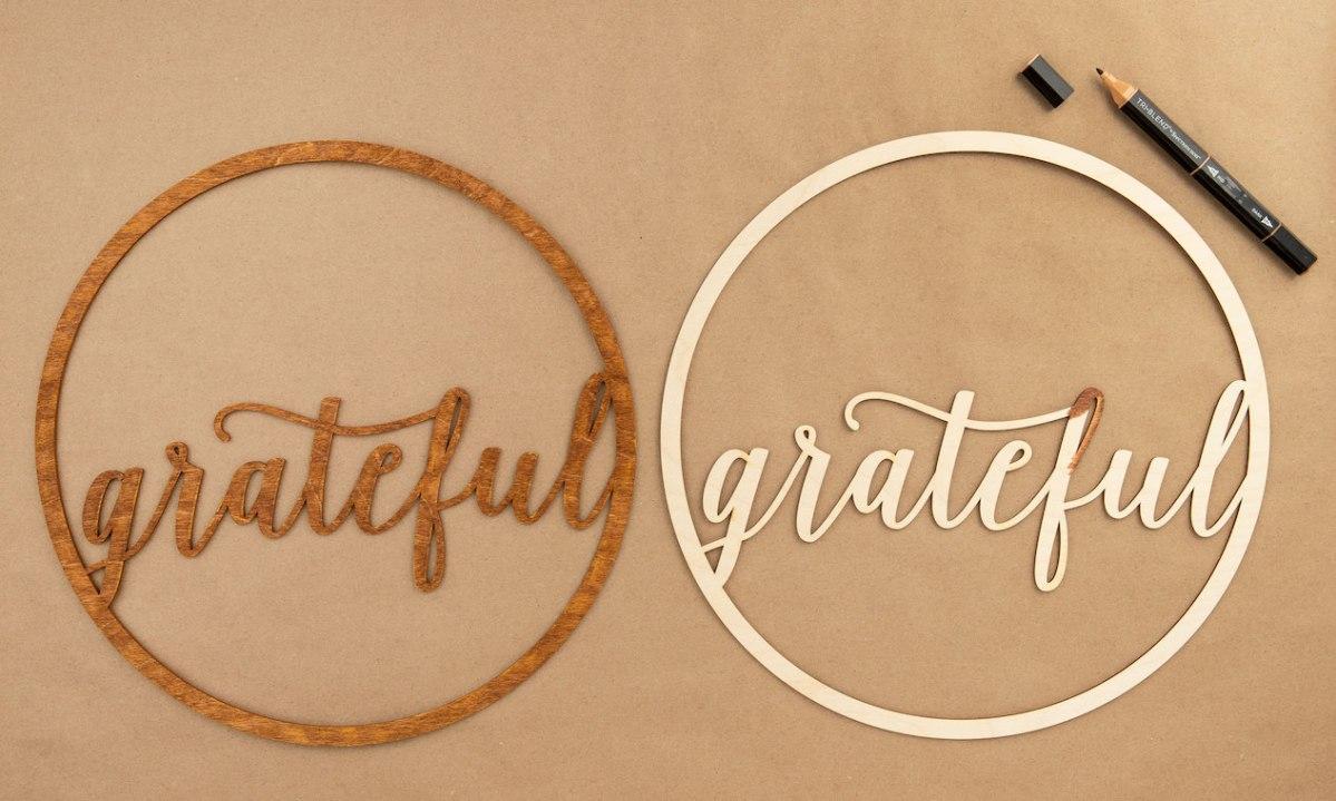 All Around Creativity #ctmh #closetomyheart #nationalpapercraftingmonth #papercraft #wreath #create #Grateful