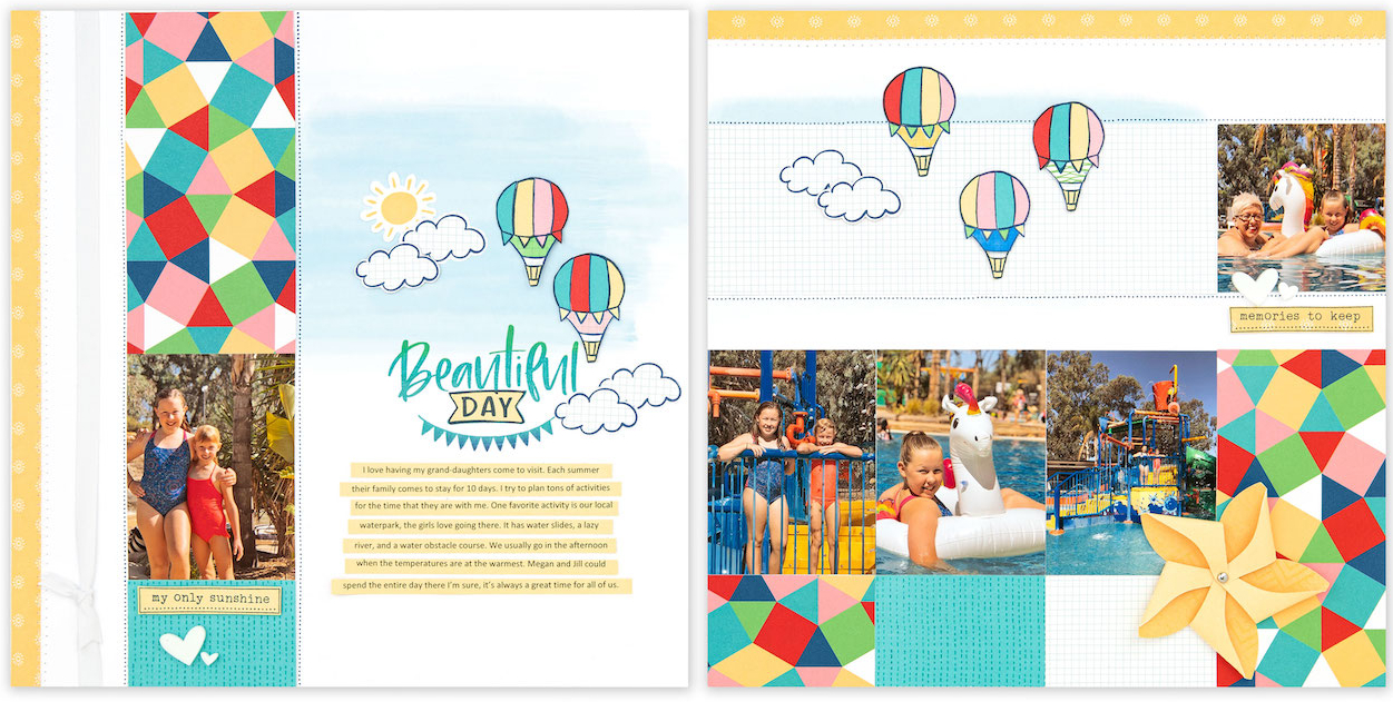 Free Scrapbooking Pattern #ctmh #closetomyheart #blueskies #nsm #nationalscrapbookingmonth #memorykeeping #storytelling #freescrapbookingpattern #freepattern