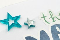 Embossing Acrylic Shapes #ctmh #closetomyheart #ctmhaurora #embossing #scrapbooking #scrapbookingworkshop