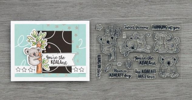 Free Card Pattern #ctmh #closetomyheart #freepattern #cardmaking #cardpattern #happiestplace #free #koala #koalatyday