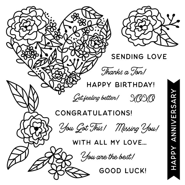 Close To My Heart VIP #ctmh #closetomyheart #ctmhvip #closetomyheartvip #sotm #stampofthemonth #withallmylove #missingyou #happyanniversary #congratulations #goodluck #happybirthday #feelbetter #xoxo #ctmhmakers #cardmaking