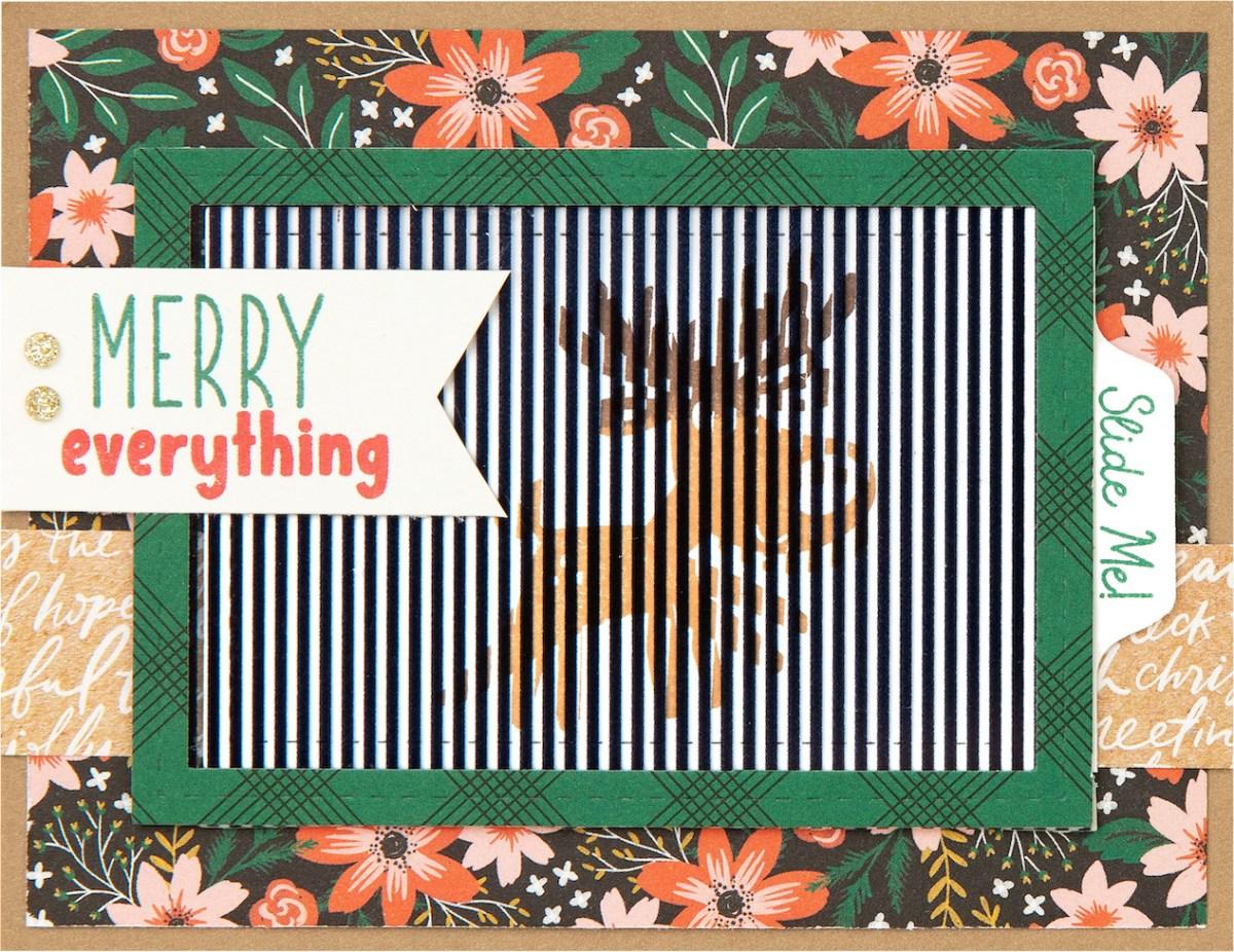 Free Card Pattern #ctmh #closetomyheart #freepattern #cardmaking #diy #ctmhseasonsinmotion #animatedcards #interactivecards #autumnair #holidaycheer #reindeer