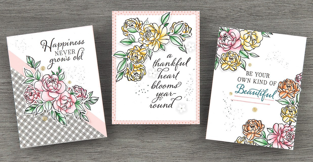 Close To My Heart VIP #closetomyheart #ctmh #scrapbooking #cardmaking #stamping #ctmhvip #vipprogram #happinessnevergrowsold #stampofthemonth #floralstampset #flowerstampset