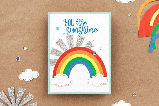 Home Sweet Home #ctmh #closetomyheart #ctmhhomesweethome #cardmaking #scrapbooking #memorykeeping #youaremysunshine #rainbowcard