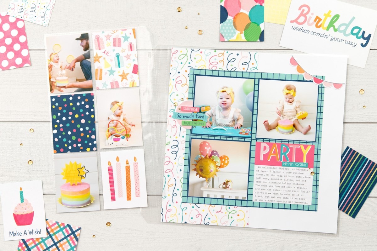 Scrapbooking with Pockets #closetomyheart #ctmh #ctmhpocketcardperfection #scrapbooking #pocketscrapbooking #picturemylife #pocketplus #flipflaps #birthdaypartyscrapbook