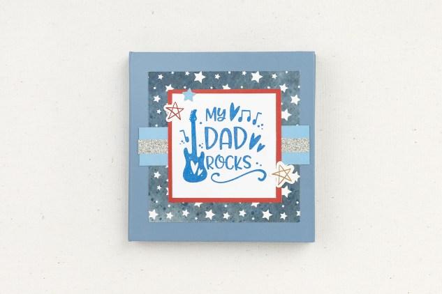 Handmade Father's Day Gifts #closetomyheart #ctmh #ctmhnoordinarydad #noordinarydad #scrapbooking #stamping #diyphotoalbum #minialbum #mydadrocks #father'sday