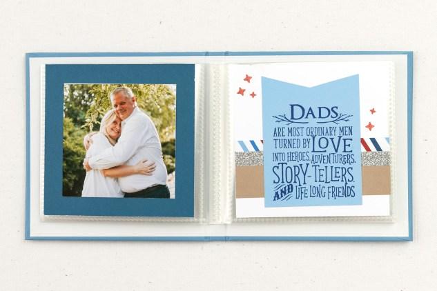 Handmade Father's Day Gifts #closetomyheart #ctmh #ctmhnoordinarydad #noordinarydad #scrapbooking #stamping #diyphotoalbum #minialbum #father'sday #bestdadever