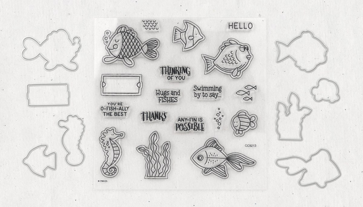 Slimline Cards #closetomyheart #ctmh #nationalstampingmonth #slimlinecelebration #slimlinecards #slimline #cardmaking #fishygreetings