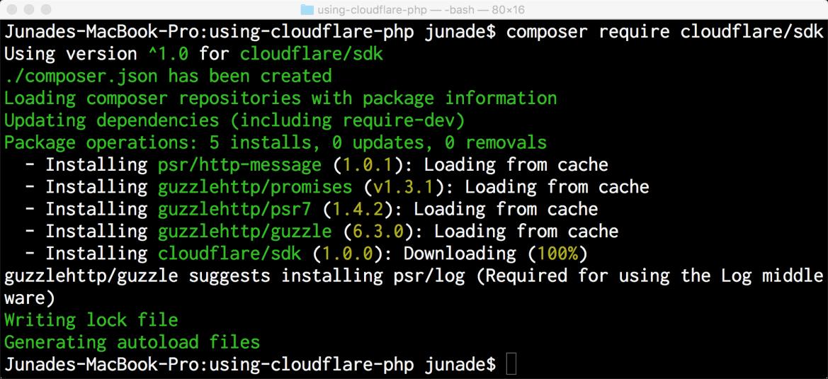 Installing cloudflare/sdk