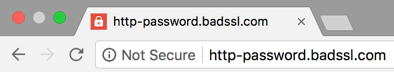 Security Warning on site with Password Form