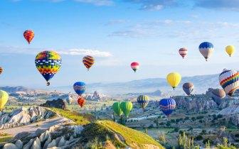 Os belos passeios de balão pela Capadócia