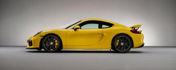 Porsche Cayman GT4 in Yellow