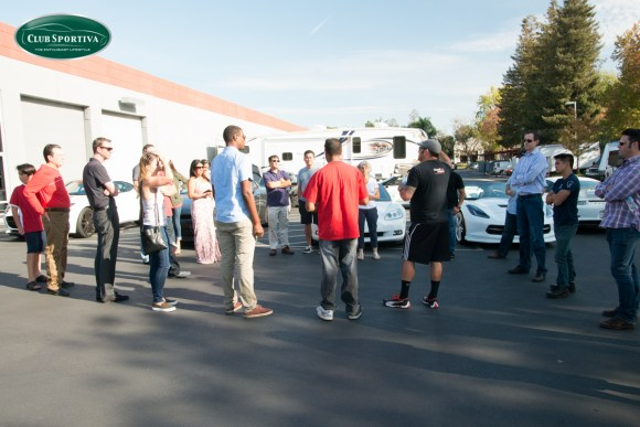 Members and friends getting ready for a group drive in San Jose