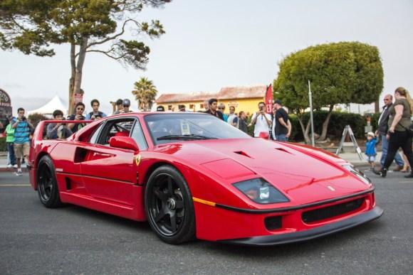 Ferrari F40 on HRE wheels