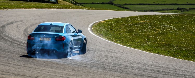 BMW M2 burning tires