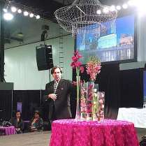 "FTD education consultant Ian Prosser presented ""Wow Factor Wedding Flowers"" at The Show's main stage. He has lent his expertise to events for Queen Elizabeth, Tom Cruise and Katie Holmes and worked on the inaugurals for Bill Clinton and George W. Bush."