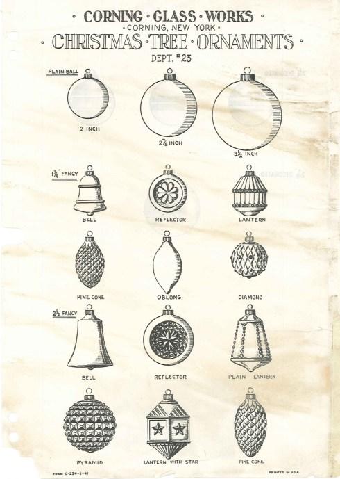 Corning Glass Works Ornaments corningware ornaments