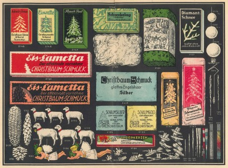 glass Christmas ornament trade catalog 1936 German