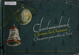 German trade catalog for glass christmas ornaments