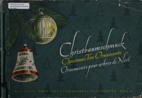 German trade catalog for glass christmas ornaments