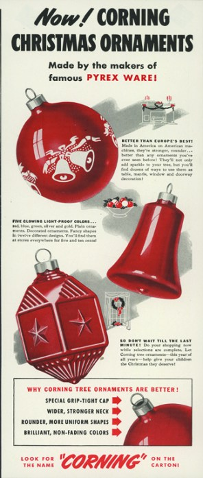 red glass Christmas ornaments