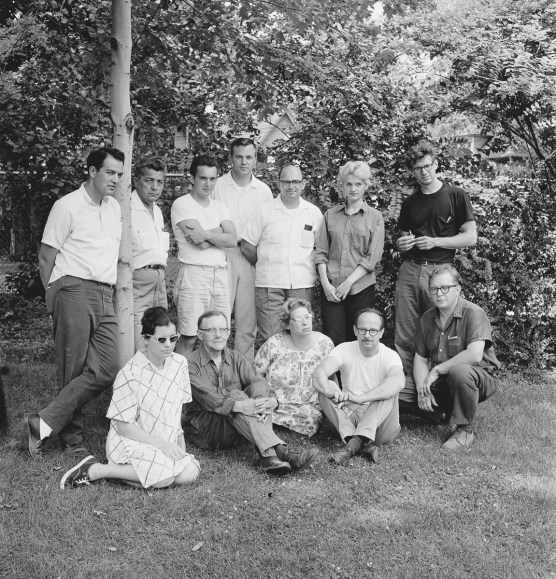 Studio Glass Workshop participants, Toledo Museum of Art Photographed by Robert C. Florian, June 1962 Gift of Robert C. Florian