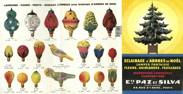 A French trade catalog advertising Christmas lights. (From Eclairage d'arbres de Noël, c.1930s. Bib ID: 88844)