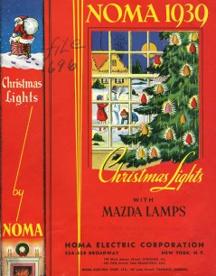 The cover of a 1939 NOMA catalog. (From Christmas lights with Mazda lamps, NOMA, 1939. Bib ID: 52586)