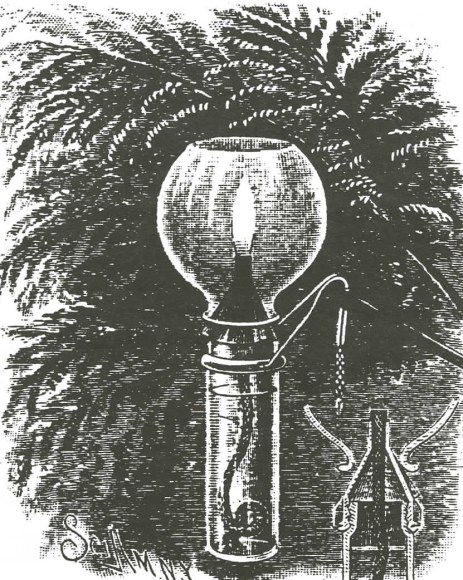 A tiny kerosene lamp that was another option for lighting your tree. (From pg. 16 of The golden glow of Christmas past, v. 16, no. 1, Feb. 1995)