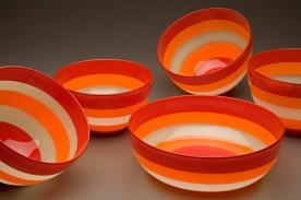 Striped Bowls by Boyd Sugiki