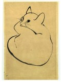Drawing of The Cat, Isamu Noguchi. Collection of the Rakow Research Library.