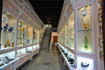 We enter Cesare's beautiful gallery space.