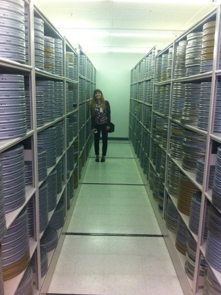 Nicole in the Eastman archives.