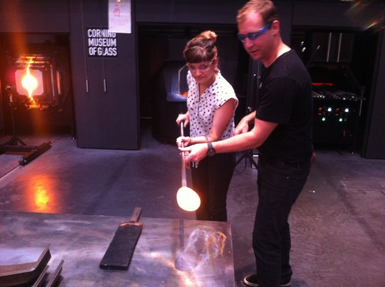 making the glass weights
