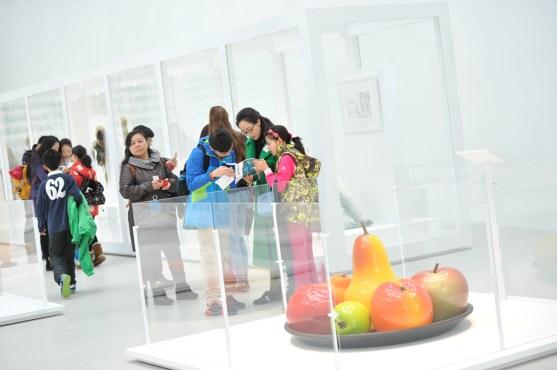 Visitors in the Contemporary Art + Design Galleries