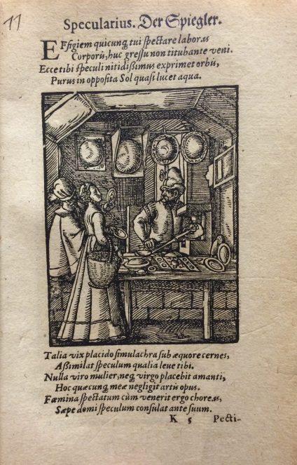 Der Brillenmacher from De omnibus illiberalibus siue mechanicis artibus, CMGL 75463.