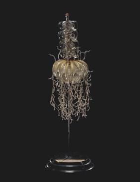 Physophora magnifica (1885); Physophora hydrostatica (2016), Blaschka Nr. 213,Leopold and Rudolf Blaschka,Dresden, Germany, 1885. Lent by Cornell University, Department of Ecology and Evolutionary Biology. L.17.3.63-516.