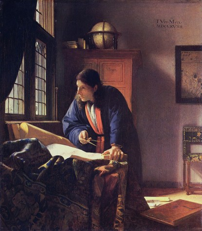 The Geographer, Johannes Vermeer (1632-1675), 1668-1669, Städelsches Kunstinstitut Museum