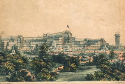 Illustration of the Crystal Palace, Paul M. Hollister Collection, CMGL 101610.